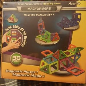 MAGFORMERS:38 PIECES:MAGNETIC BUILDING SET